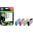 HP 364XL Original Ink Cartridge N9J74AE Black 3 Colours Pack 4