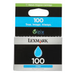 Lexmark 100 Original Cyan Printer Ink Cartridge 14N0900E