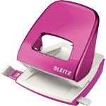 Leitz Two hole punch 5008 Pink Metallic 30 Sheets
