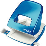Leitz NeXXt Series WOW Metal Office 2 Hole Punch Metallic Blue 30 sheets
