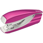 LEITZ WOW Nexxt Metal Half Strip Stapler Up to 30 Sheet Pink
