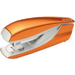 LEITZ WOW Nexxt Metal Half Strip Stapler Up to 30 Sheets Orange