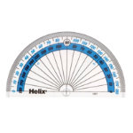 Helix 180 degree protractor Box of 50