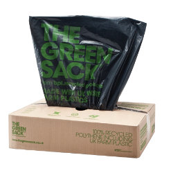 The Green Sack Medium Duty Refuse Sack Black 737W x 965Lmm 200 Per Box