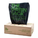 The Green Sack heavy duty refuse sacks black 965 x 737mm h x w 15kg capacity 200 per box