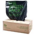 The Green Sack heavy duty refuse sacks black 965 x 737mm h x w 60 70ltr 200 per box