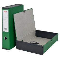 Office Depot Pvc Box File Foolscap Dark Green