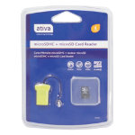 Ativa Class 4 Micro SDHC SD Card 4GB with USB Card Reader