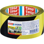 tesa Warning Tape Black Yellow 50mm x 66m