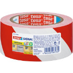 Tesa Warning Tape Red White 50mm x 66m