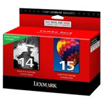 Lexmark 14  15 Original Black 3 Colours Ink Cartridge 80D2979