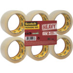 Scotch HV5066F6T Packaging Tape Transparent 50 mm x 66 m Pack 6