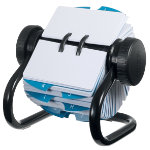 Rolodex Business Card File Open Style Black 146 x 171 500 Card Capacity