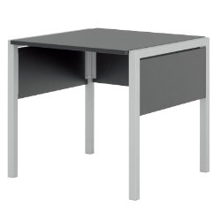 (A) 800mm Black Desk from the Black and White Office Collection