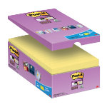 Post it Super Sticky Notes Yellow 76 x 127 mm 70gsm 16 pieces of 90 sheets