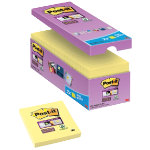 Post it Super Sticky Notes Yellow 76 x 76 mm 70gsm 16 pieces of 90 sheets