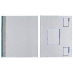 Post Safe Extra Strong Polythene Envelopes White Opaque 440 x 320mm 20 Per Box