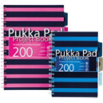 Pukka Navy A4 Project Book Pink