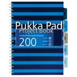 Pukka Navy A4 Project Book Blue