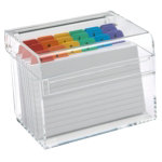 OSCO clear acrylic Index box with A to Z Cards