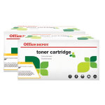 Office Depot compatible HP No 05A hi yield black toner cartridge twin pack