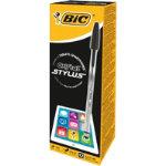 Bic Cristal Stylus Black Pack 12