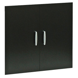 Bush Black & White office furniture range Low doors (black effect)