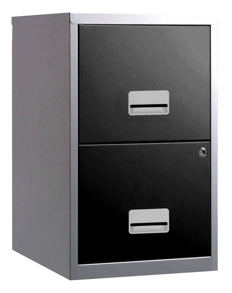 2 drawer a4 metal steel lockable filing draw cabinet ForBlack And Silver Cabinet