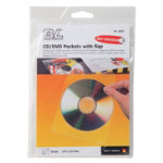 3L Self adhesive CD DVD Pockets with flap pack 10