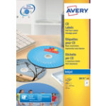 Avery Inkjet CD Dvd Labels 100 pkJ8676 100