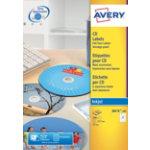 Avery Inkjet CD Dvd Labels 100 pkJ8676 100