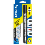 Pilot Perminent Marker 400 Bullet Black Blue Red Green Pack 4