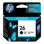 Original HP No26 black printer ink cartridge 51626A