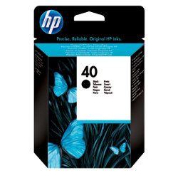 Original HP No.40 black printer ink cartridge 51640A