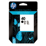 Original HP No40 black printer ink cartridge 51640A