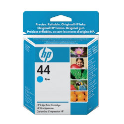 Original HP No.44 cyan printer ink cartridge 51644C