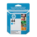 Original HP No44 cyan printer ink cartridge 51644C