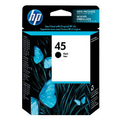 Original HP No.45 black printer ink cartridge 51645GE