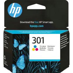 Original HP No.301 tri-colour (cyan magenta yellow) printer ink cartridge CH562EE