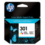 Original HP No301 tri colour cyan magenta yellow printer ink cartridge CH562EE