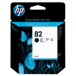 Original HP No82 black printer ink cartridge CH565A