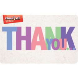 Thank you Gift Card £15