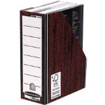 Bankers Box Fellowes R Kive Presto Premium Magazine Files Woodgrain Pack 10