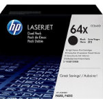 HP No64X High Capacity Black Toner Cartridge Twin Pack CC364XD