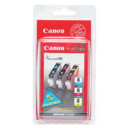 Canon CLI8CMY Original 3 Colours Ink Cartridge 0621B029