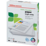 Office Depot 100 Recycled Printer Paper Bright White A4 80gsm