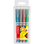 Stabilo Worker Colorful Rollerball Pen Black Pack of 10