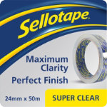 Sellotape Super Clear tape 24mm x 50m