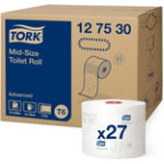 TOILET TISSUE TORK T6 COMPACT MID SIZE 2 PLY WHITE ADVANCED 100M BOX OF 27