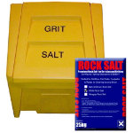 200 Litre Bin with 10 x 25kg White Rock Salt